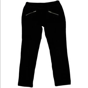 Gymboree  size 7 Black Pants With Silver Zippers